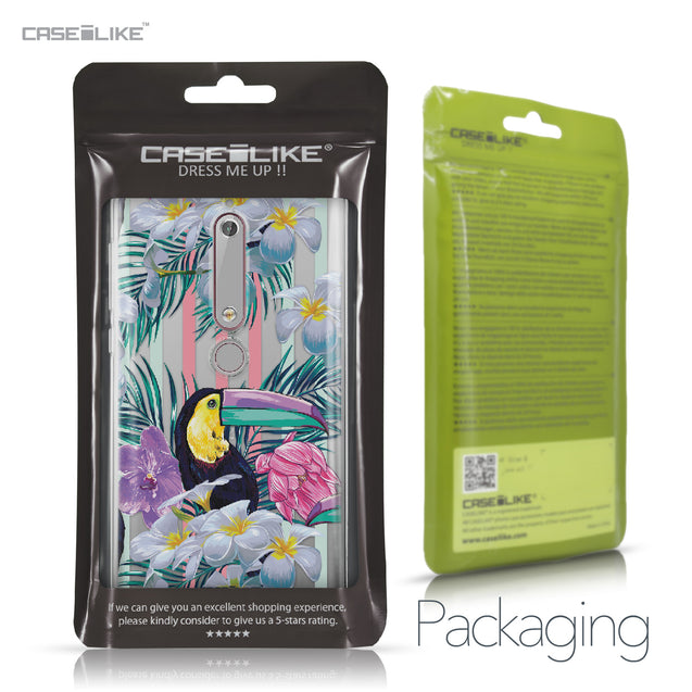 Nokia 6 (2018) case Tropical Floral 2240 Retail Packaging | CASEiLIKE.com