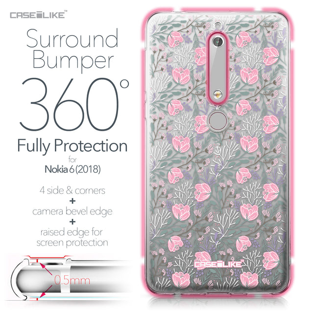 Nokia 6 (2018) case Flowers Herbs 2246 Bumper Case Protection | CASEiLIKE.com