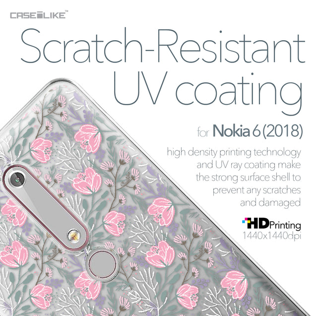 Nokia 6 (2018) case Flowers Herbs 2246 with UV-Coating Scratch-Resistant Case | CASEiLIKE.com