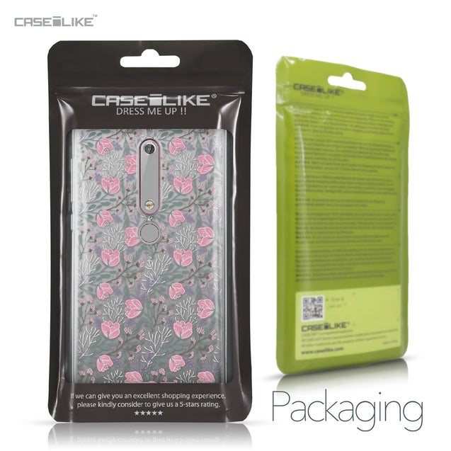 Nokia 6 (2018) case Flowers Herbs 2246 Retail Packaging | CASEiLIKE.com