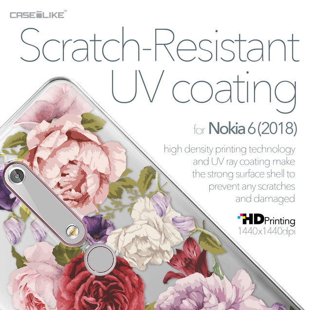 Nokia 6 (2018) case Mixed Roses 2259 with UV-Coating Scratch-Resistant Case | CASEiLIKE.com