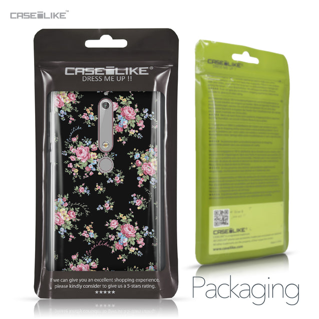 Nokia 6 (2018) case Floral Rose Classic 2261 Retail Packaging | CASEiLIKE.com