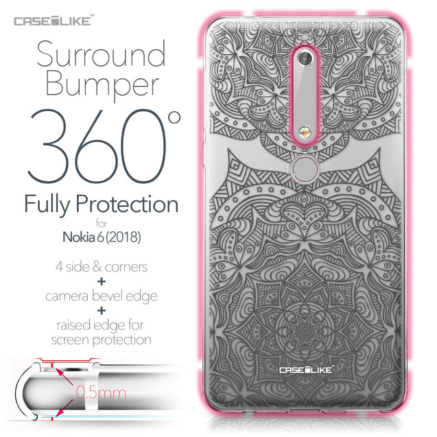 Nokia 6 (2018) case Mandala Art 2304 Bumper Case Protection | CASEiLIKE.com