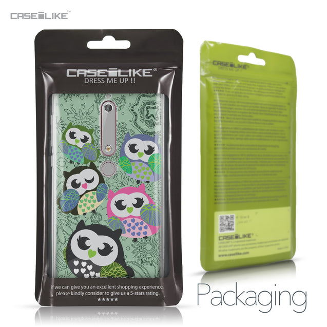 Nokia 6 (2018) case Owl Graphic Design 3313 Retail Packaging | CASEiLIKE.com