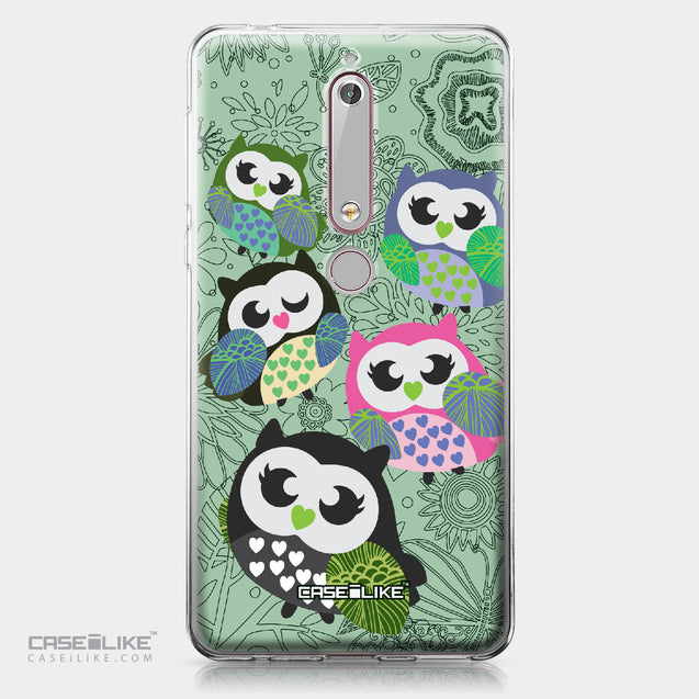 Nokia 6 (2018) case Owl Graphic Design 3313 | CASEiLIKE.com