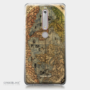 Nokia 6 (2018) case World Map Vintage 4608 | CASEiLIKE.com