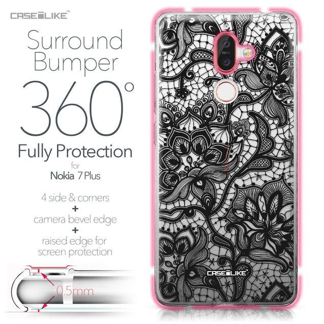 Nokia 7 Plus case Lace 2037 Bumper Case Protection | CASEiLIKE.com