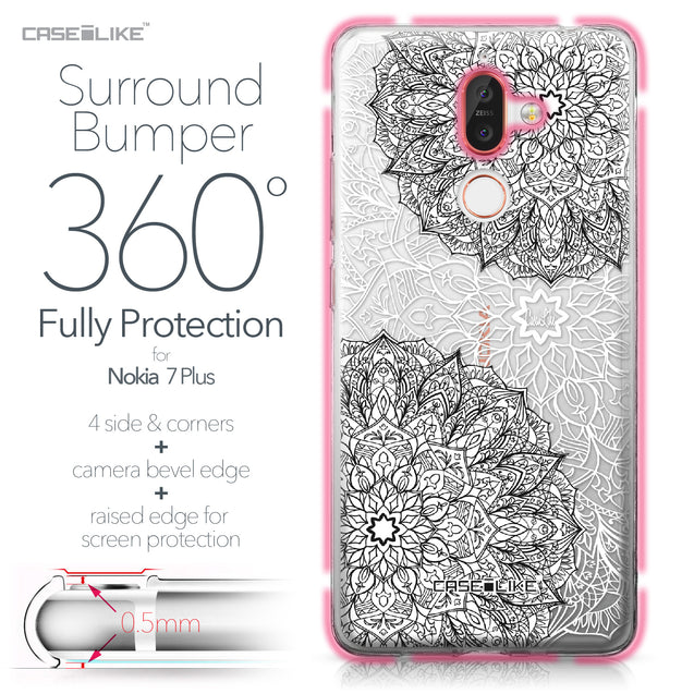 Nokia 7 Plus case Mandala Art 2093 Bumper Case Protection | CASEiLIKE.com