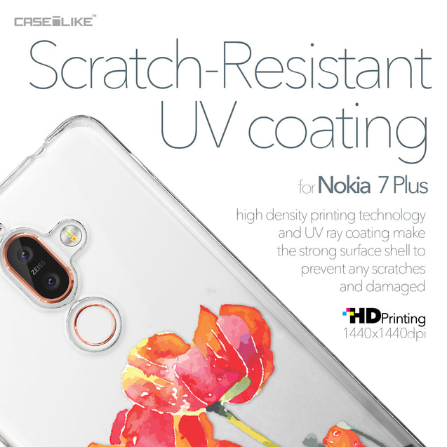 Nokia 7 Plus case Watercolor Floral 2230 with UV-Coating Scratch-Resistant Case | CASEiLIKE.com