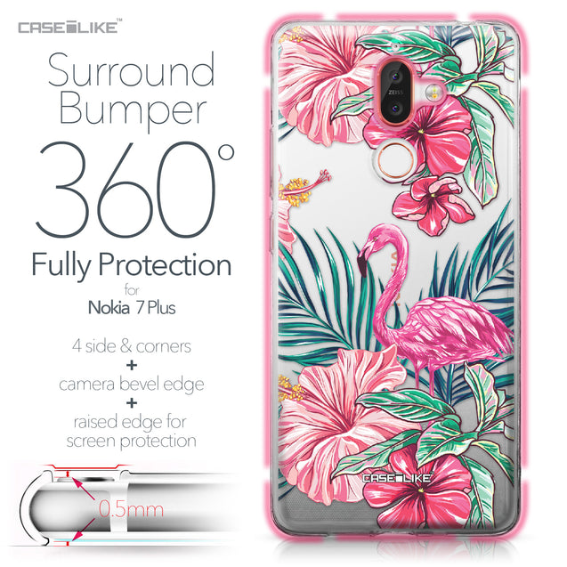 Nokia 7 Plus case Tropical Flamingo 2239 Bumper Case Protection | CASEiLIKE.com