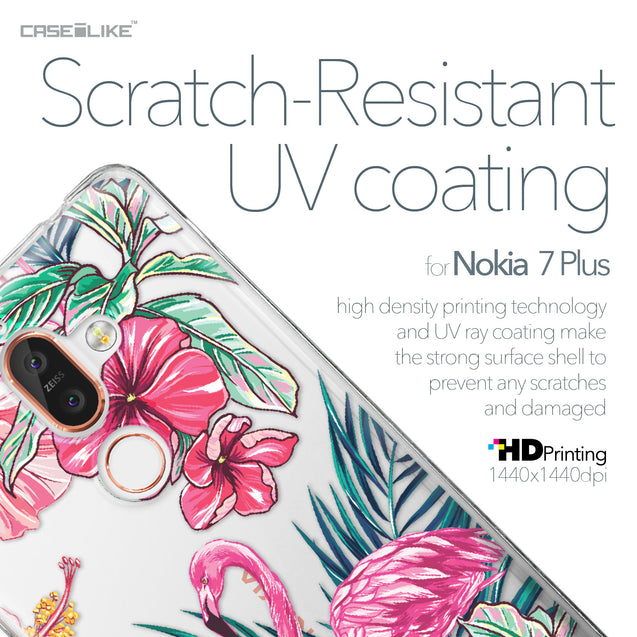 Nokia 7 Plus case Tropical Flamingo 2239 with UV-Coating Scratch-Resistant Case | CASEiLIKE.com