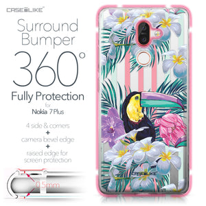 Nokia 7 Plus case Tropical Floral 2240 Bumper Case Protection | CASEiLIKE.com