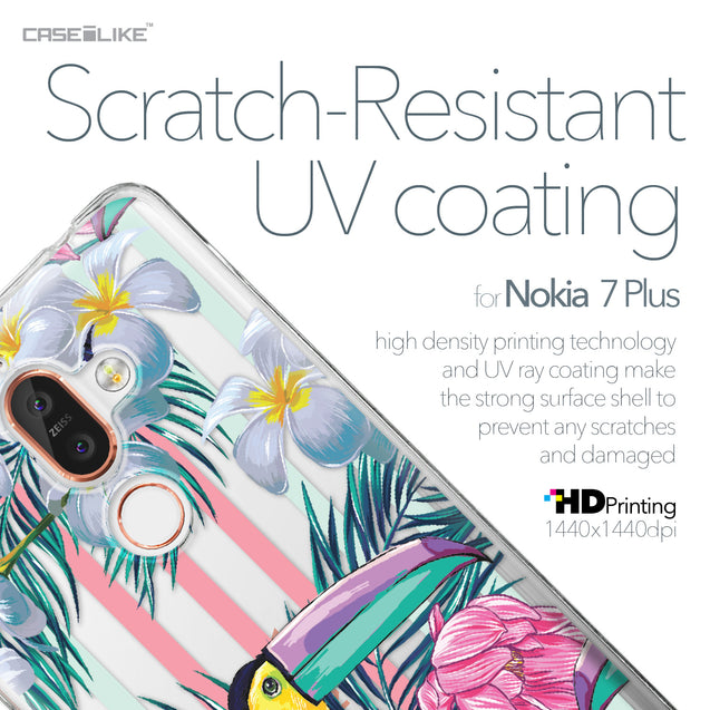 Nokia 7 Plus case Tropical Floral 2240 with UV-Coating Scratch-Resistant Case | CASEiLIKE.com
