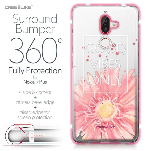 Nokia 7 Plus case Gerbera 2258 Bumper Case Protection | CASEiLIKE.com