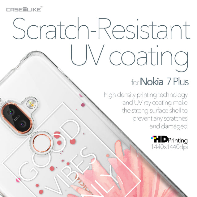 Nokia 7 Plus case Gerbera 2258 with UV-Coating Scratch-Resistant Case | CASEiLIKE.com