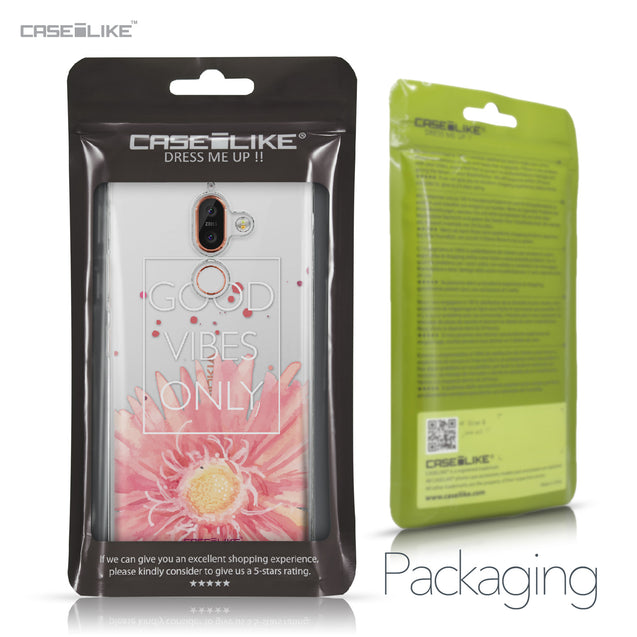 Nokia 7 Plus case Gerbera 2258 Retail Packaging | CASEiLIKE.com