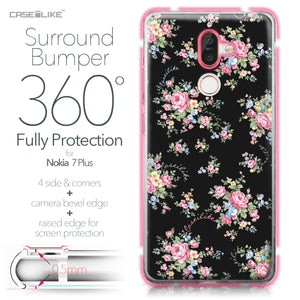 Nokia 7 Plus case Floral Rose Classic 2261 Bumper Case Protection | CASEiLIKE.com