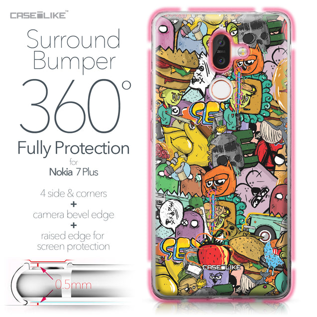 Nokia 7 Plus case Graffiti 2731 Bumper Case Protection | CASEiLIKE.com