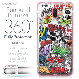 Nokia 7 Plus case Comic Captions 2914 Bumper Case Protection | CASEiLIKE.com