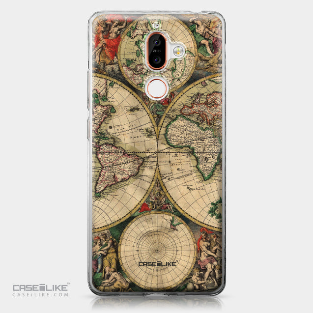 Nokia 7 Plus case World Map Vintage 4607 | CASEiLIKE.com