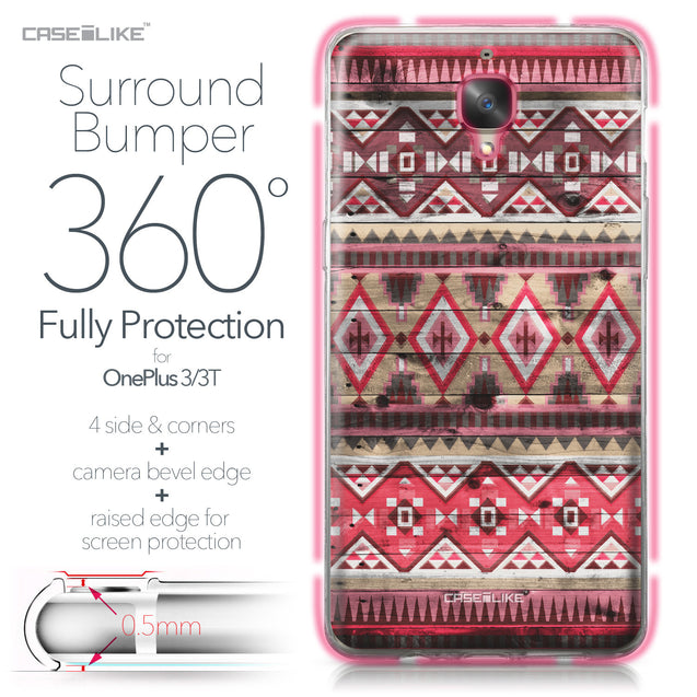 OnePlus 3/3T case Indian Tribal Theme Pattern 2057 Bumper Case Protection | CASEiLIKE.com