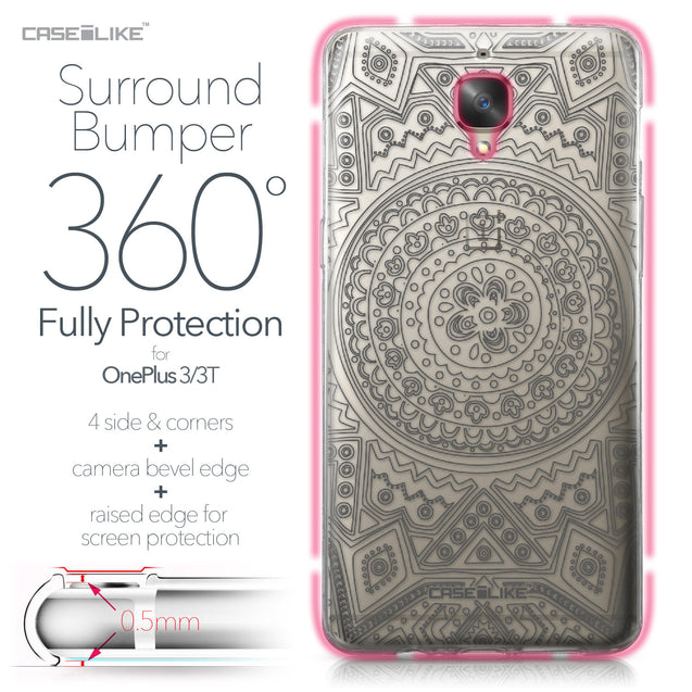 OnePlus 3/3T case Indian Line Art 2063 Bumper Case Protection | CASEiLIKE.com
