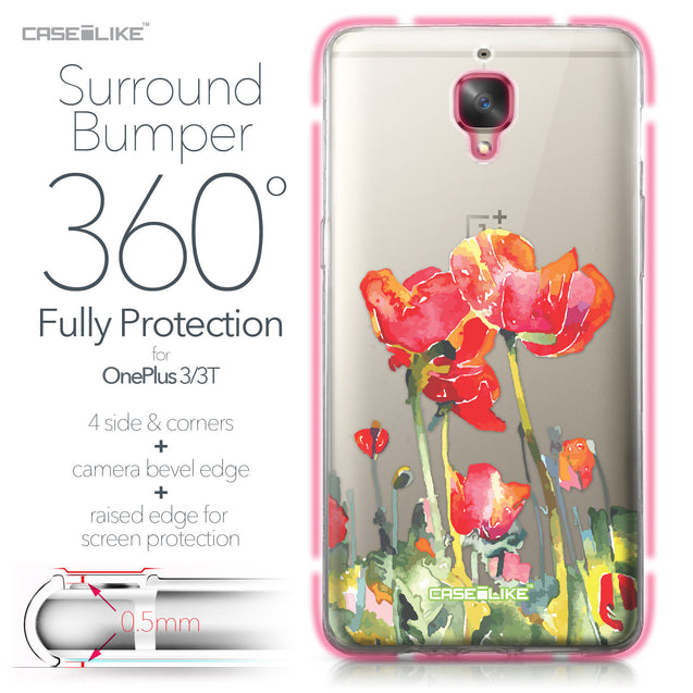 OnePlus 3/3T case Watercolor Floral 2230 Bumper Case Protection | CASEiLIKE.com