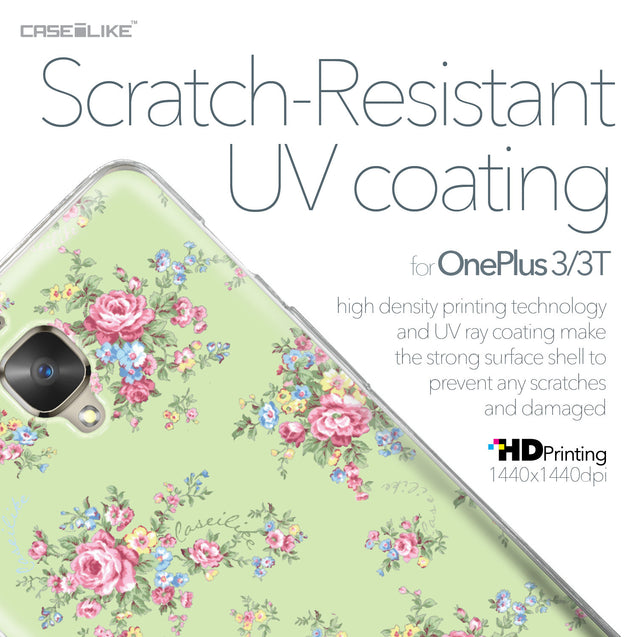 OnePlus 3/3T case Floral Rose Classic 2262 with UV-Coating Scratch-Resistant Case | CASEiLIKE.com