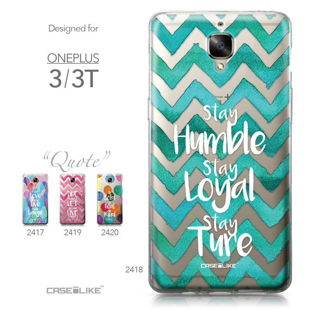 OnePlus 3/3T case Quote 2418 Collection | CASEiLIKE.com