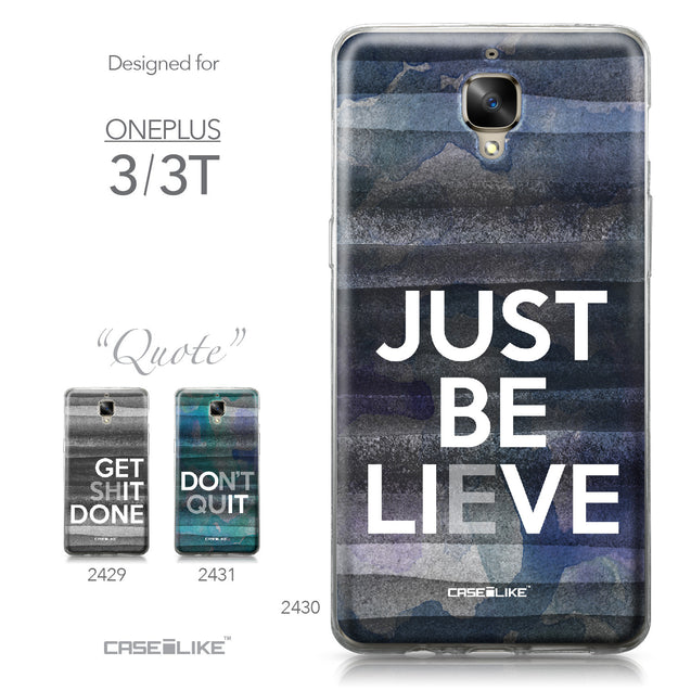 OnePlus 3/3T case Quote 2430 Collection | CASEiLIKE.com