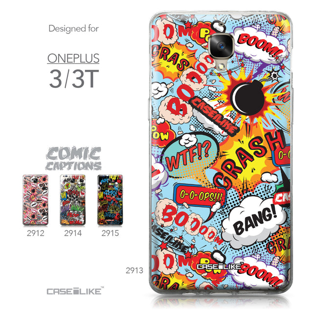 OnePlus 3/3T case Comic Captions Blue 2913 Collection | CASEiLIKE.com