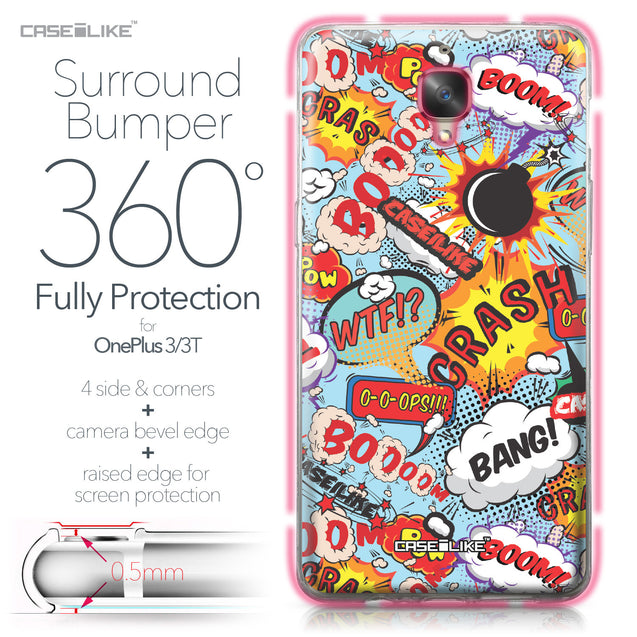 OnePlus 3/3T case Comic Captions Blue 2913 Bumper Case Protection | CASEiLIKE.com