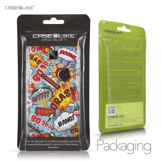 OnePlus 3/3T case Comic Captions Blue 2913 Retail Packaging | CASEiLIKE.com