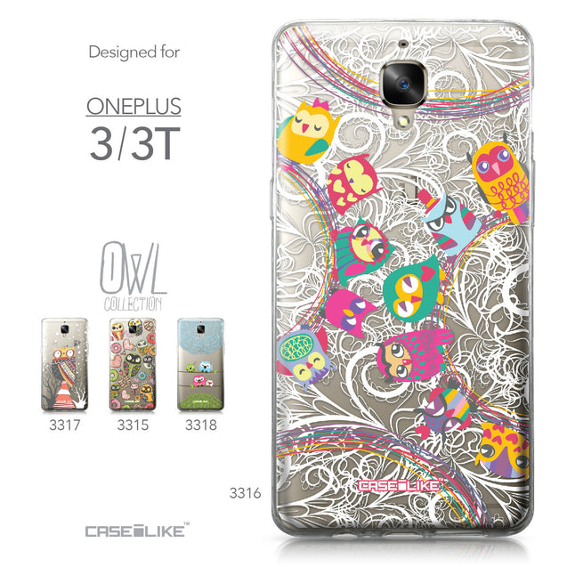 OnePlus 3/3T case Owl Graphic Design 3316 Collection | CASEiLIKE.com