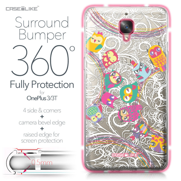 OnePlus 3/3T case Owl Graphic Design 3316 Bumper Case Protection | CASEiLIKE.com