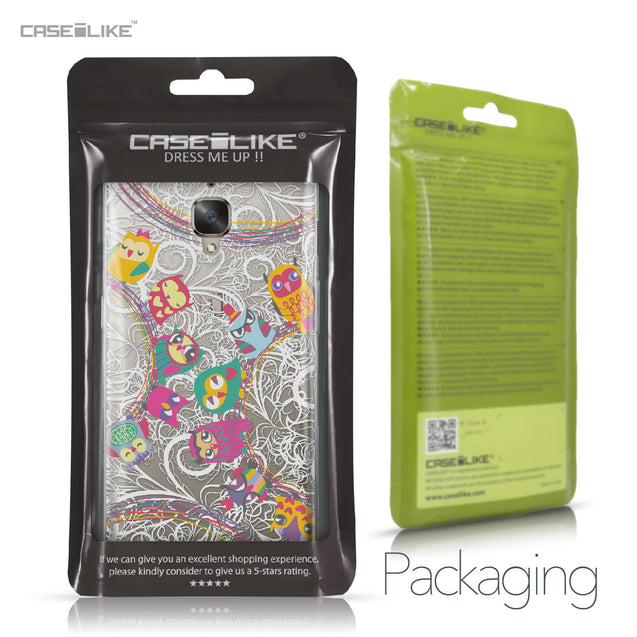 OnePlus 3/3T case Owl Graphic Design 3316 Retail Packaging | CASEiLIKE.com