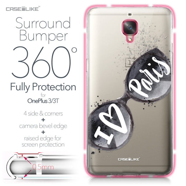 OnePlus 3/3T case Paris Holiday 3911 Bumper Case Protection | CASEiLIKE.com