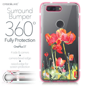 OnePlus 5T case Watercolor Floral 2230 Bumper Case Protection | CASEiLIKE.com