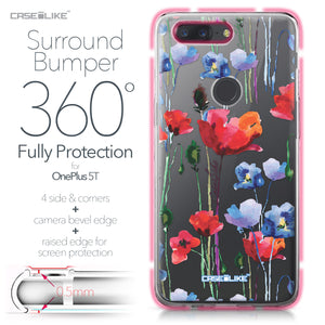 OnePlus 5T case Watercolor Floral 2234 Bumper Case Protection | CASEiLIKE.com