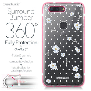 OnePlus 5T case Watercolor Floral 2235 Bumper Case Protection | CASEiLIKE.com
