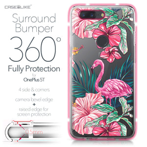 OnePlus 5T case Tropical Flamingo 2239 Bumper Case Protection | CASEiLIKE.com