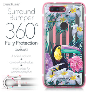 OnePlus 5T case Tropical Floral 2240 Bumper Case Protection | CASEiLIKE.com
