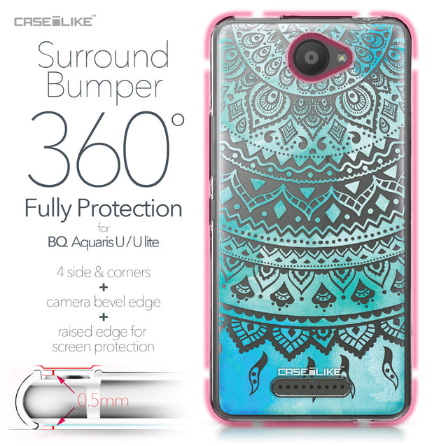 BQ Aquaris U / U Lite case Indian Line Art 2066 Bumper Case Protection | CASEiLIKE.com