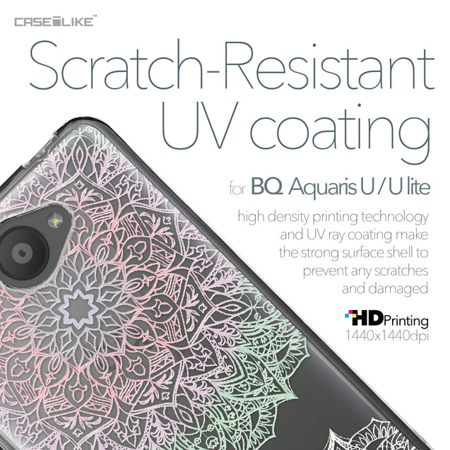 BQ Aquaris U / U Lite case Mandala Art 2092 with UV-Coating Scratch-Resistant Case | CASEiLIKE.com