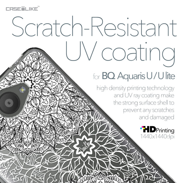 BQ Aquaris U / U Lite case Mandala Art 2093 with UV-Coating Scratch-Resistant Case | CASEiLIKE.com