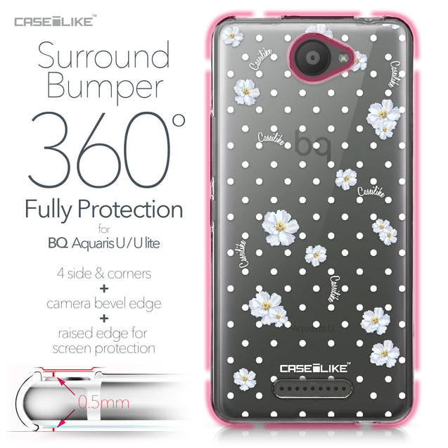 BQ Aquaris U / U Lite case Watercolor Floral 2235 Bumper Case Protection | CASEiLIKE.com
