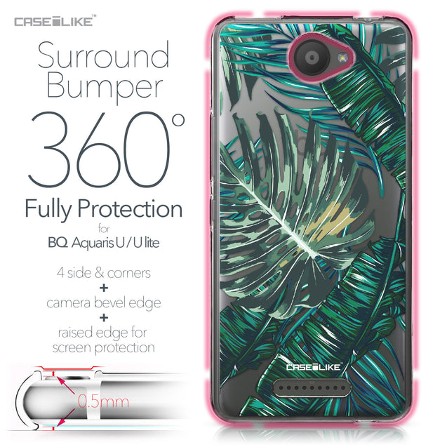 BQ Aquaris U / U Lite case Tropical Palm Tree 2238 Bumper Case Protection | CASEiLIKE.com
