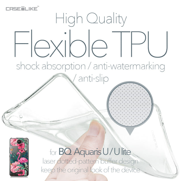 BQ Aquaris U / U Lite case Tropical Flamingo 2239 Soft Gel Silicone Case | CASEiLIKE.com