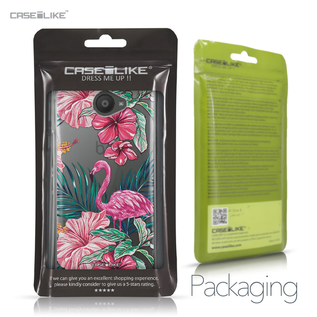 BQ Aquaris U / U Lite case Tropical Flamingo 2239 Retail Packaging | CASEiLIKE.com