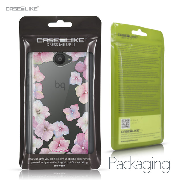 BQ Aquaris U / U Lite case Hydrangea 2257 Retail Packaging | CASEiLIKE.com
